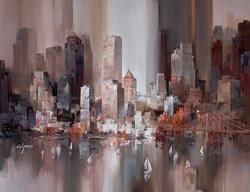 Reflected in the Harbour III by Wilfred -  sized 46x34 inches. Available from Whitewall Galleries
